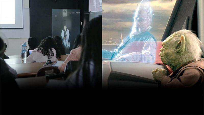 Tecnología Avatar: la experiencia de los hologramas en clase como Star Wars | Universidad Continental